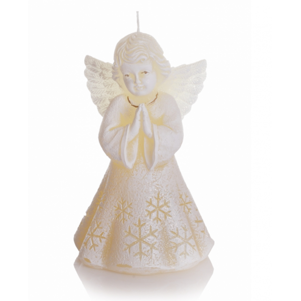 ŚWIECA CHRISTMAS ANGEL 150 ECRU