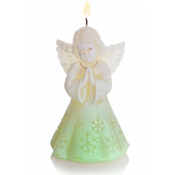 ŚWIECA CHRISTMAS ANGEL Z DIODĄ  150 ECRU