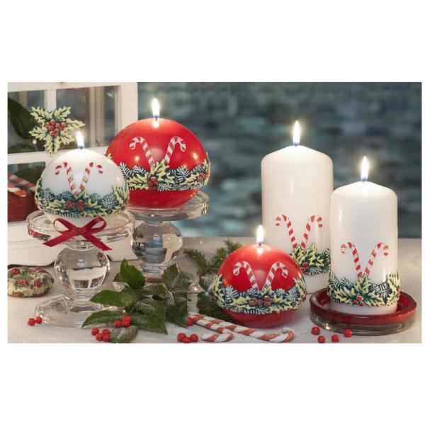 LAMPION CHRISTMAS LOOLYPOPS ŁEZKA 265x95 mm CZERWONY