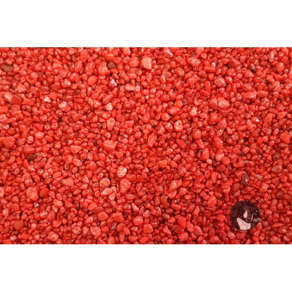 KWARC BARWIONY CZERWONY 2-4 mm  0,5 kg
