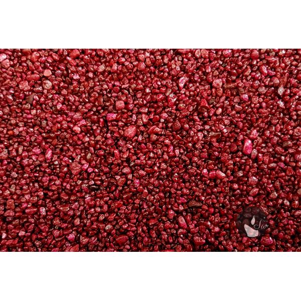 KWARC BARWIONY BORDO 2-4 mm  0,5 kg