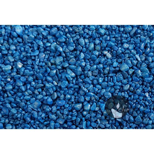KWARC BARWIONY NIEBIESKI 2-4 mm  0,5 kg
