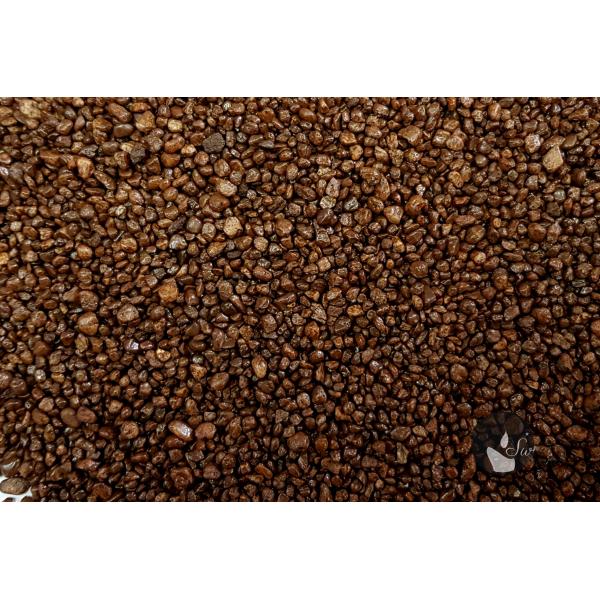 KWARC BARWIONY CIEMNY BRĄZ 2-4 mm  0,5 kg