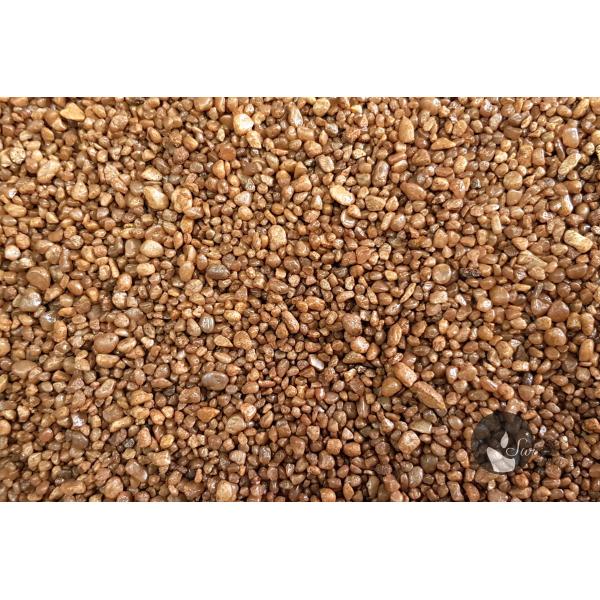 KWARC BARWIONY JASNY BRĄZ 2-4 mm  0,5 kg