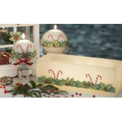 LAMPION CHRISTMAS LOOLYPOPS KWADRAT 110x105 mm