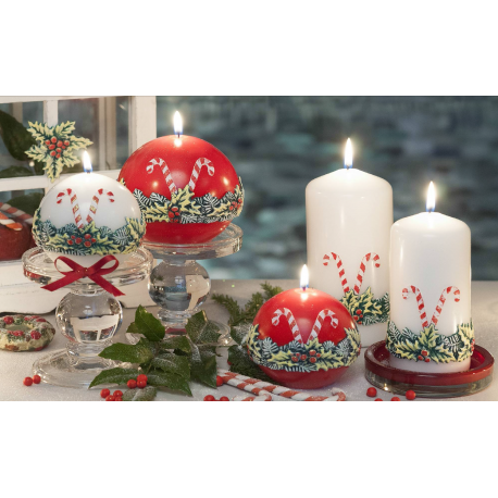 LAMPION CHRISTMAS LOOLYPOPS ŁEZKA 265x95 mm