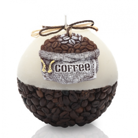 ŚWIECA RUSTIC COFFEE KULA 100 mm