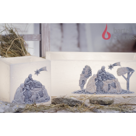 LAMPION CHRISTMAS NIGHT KWADRAT 110x105 mm